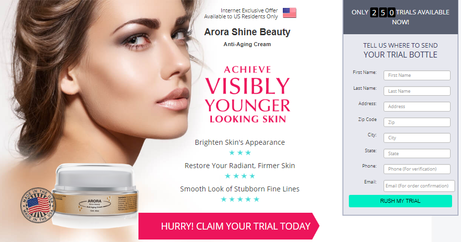 Arora Shine Beauty official page
