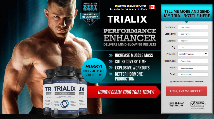 trialix testo booster order page